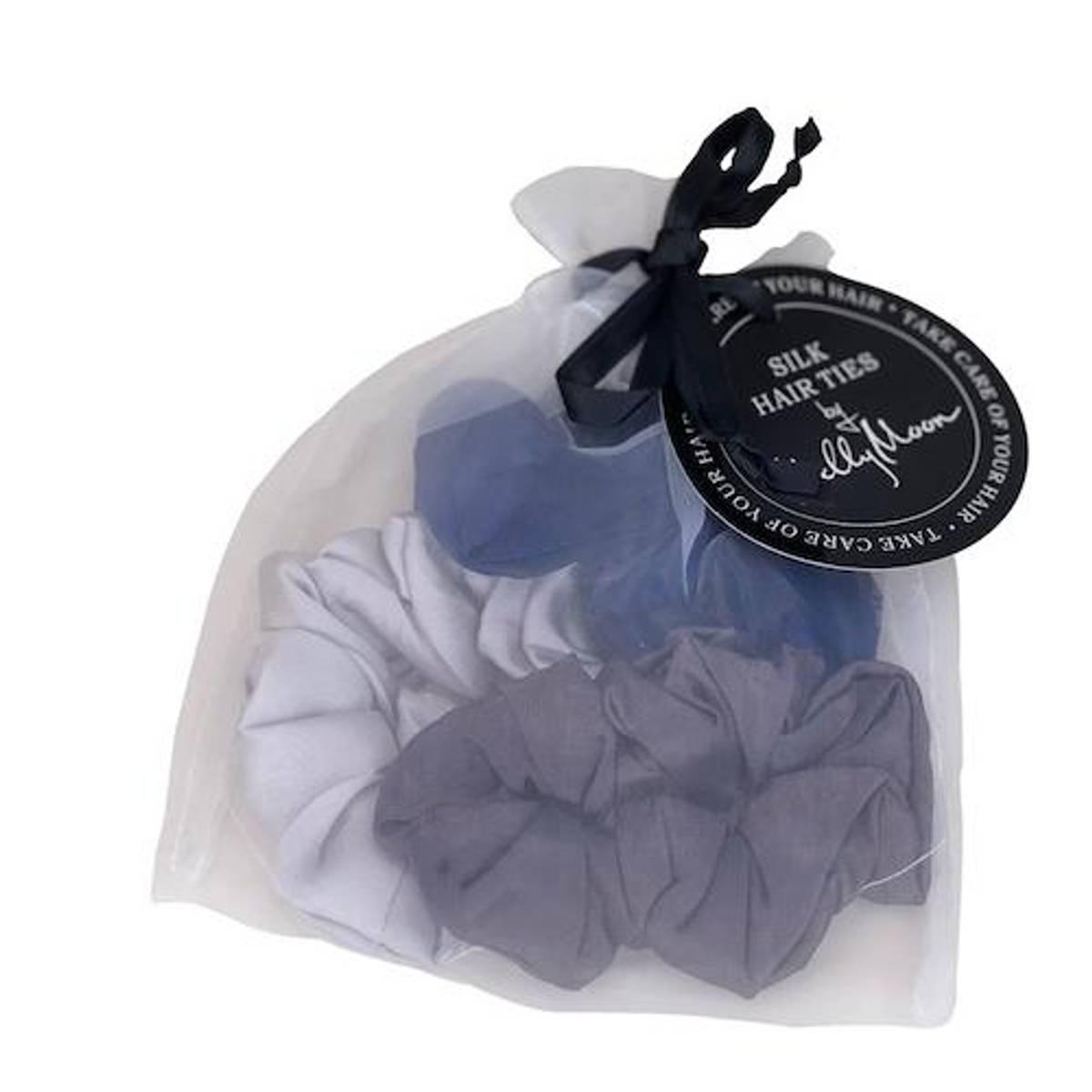 Scrunchies - blå/koksgrå/sølv