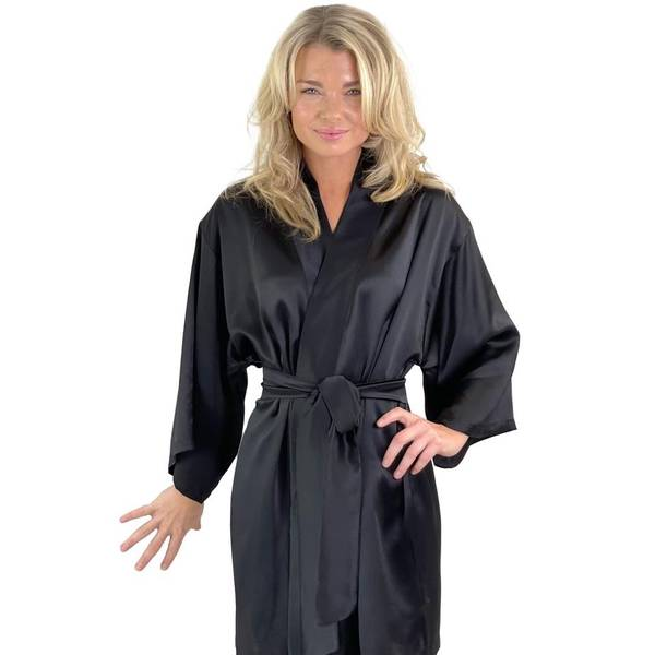 Bilde av Kimono i silke - sort